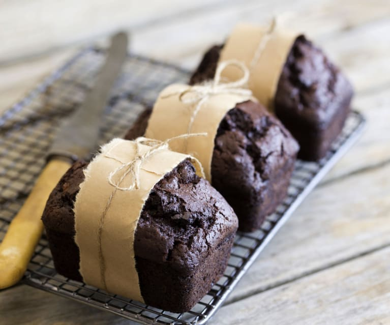 Chocolate zucchini mini loaves