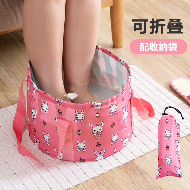 Foldable portable water foot bag