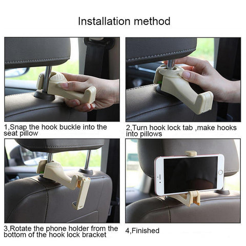 Image of 2-in-1 Foldable Car Headrest Hook