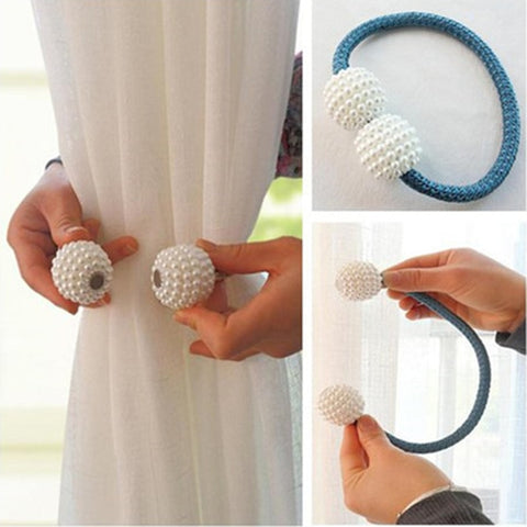 1pc Pearl Magnetic Curtain Clip