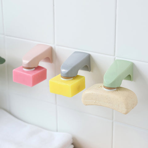Wall Mounted Wooden Soap Rack