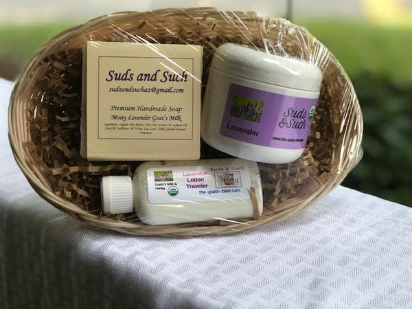 Lavender Gift Basket - The Goat's Field