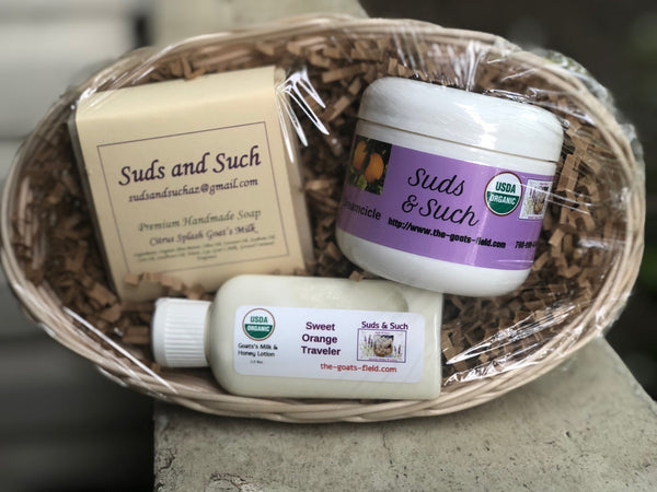 Sweet Orange Gift Basket - The Goat's Field