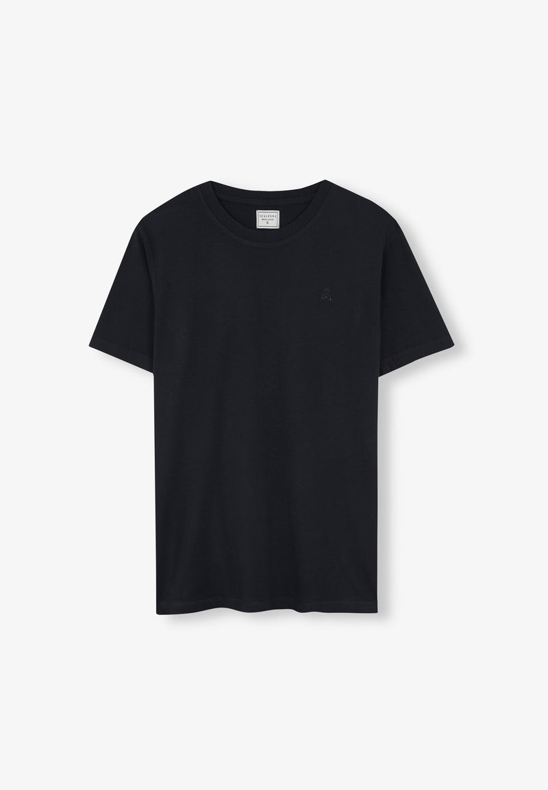 BASIC COTTON SKULL T-SHIRT