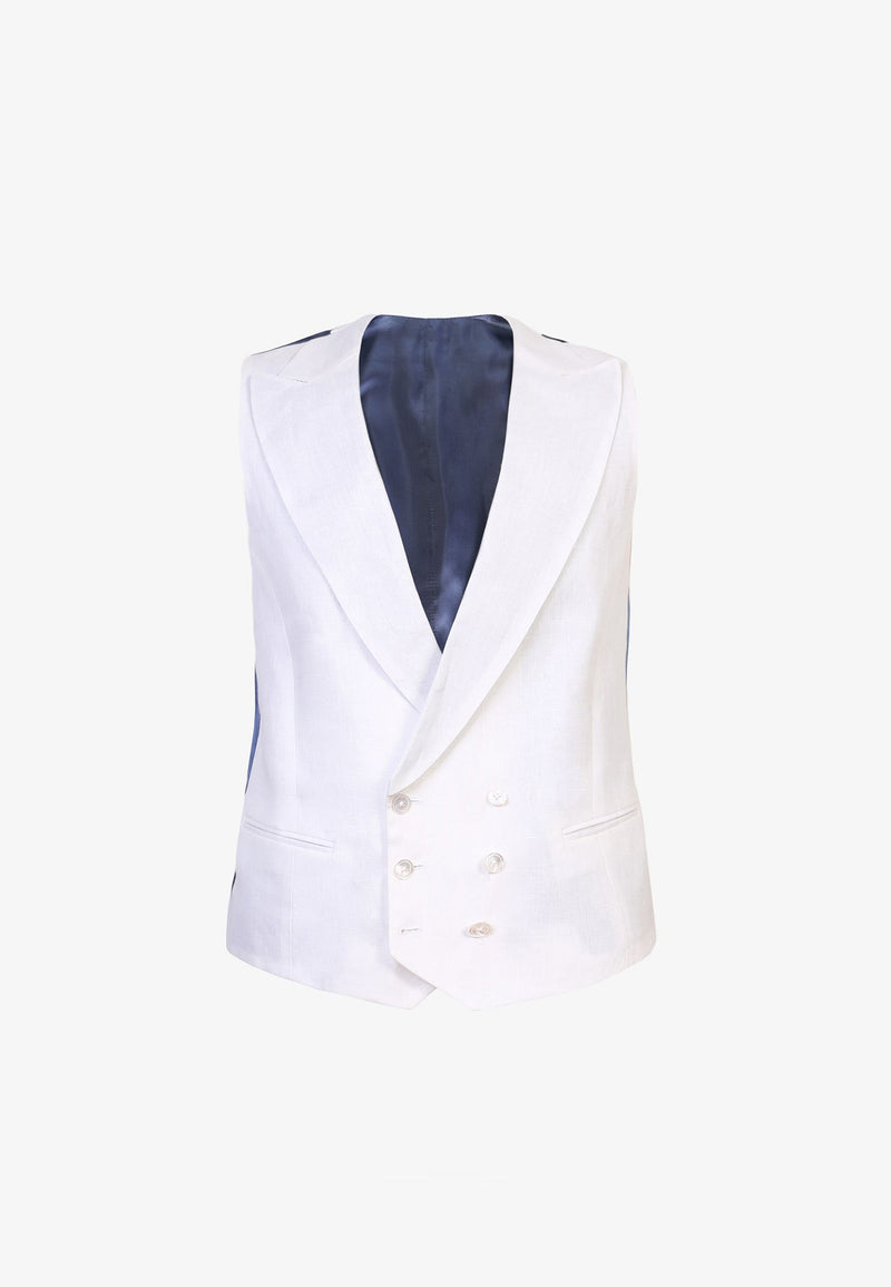FORMAL WAISTCOAT WITH WIDE PEAK LAPEL