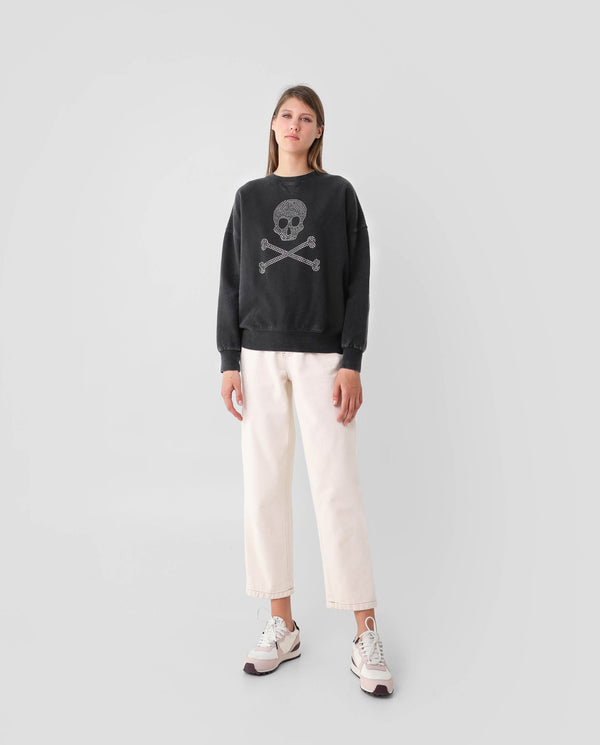 Copy of SWEATSHIRT WITH SKULL LOGO AND STUDS