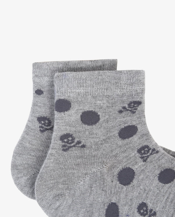 PACK OF POLKA DOT AND SKULLS SOCKS