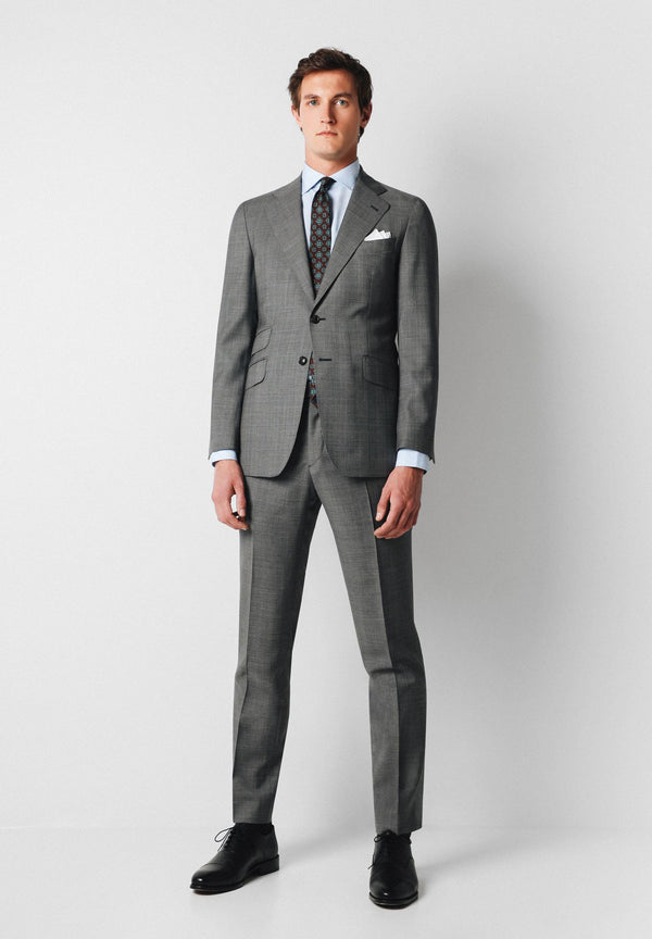 SLIM FIT PRINCE OF WALES SUIT