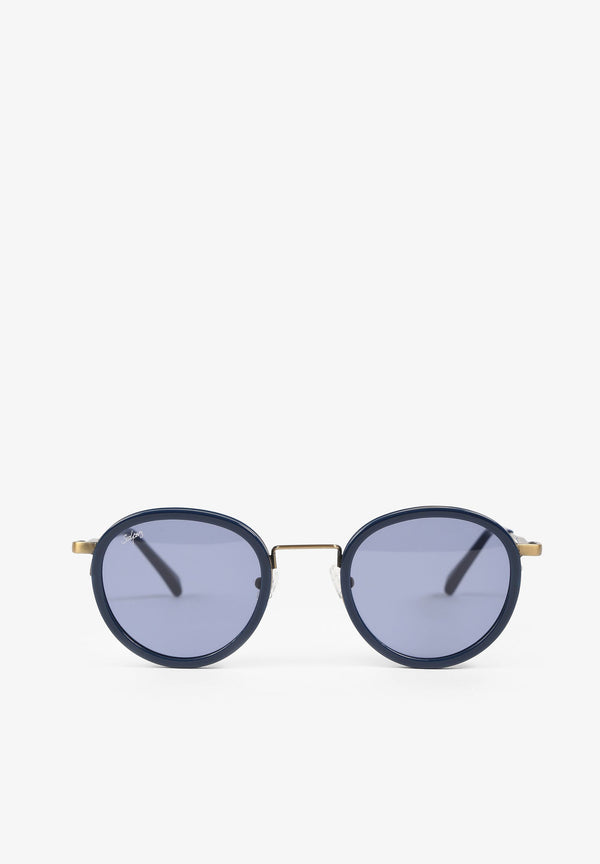 SUNGLASSES WITH ROUND METAL FRAME