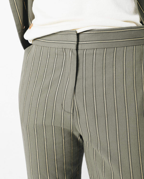 STRIPED LUREX TROUSERS