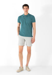 COTTON LINEN BERMUDA SHORTS