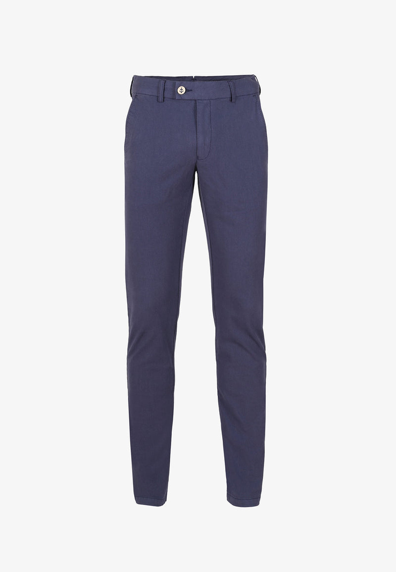 TEXTURED CHINO TROUSERS