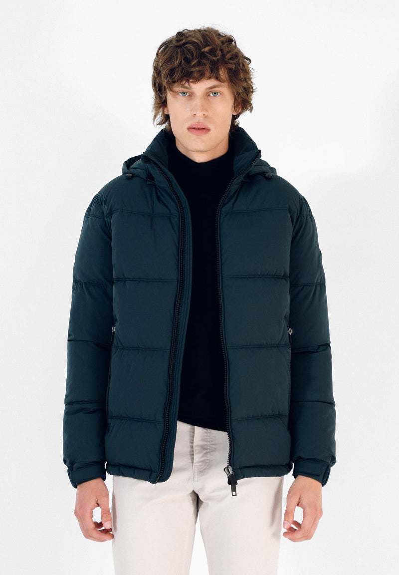 PUFFER JACKET WITH DETACHABLE HOOD