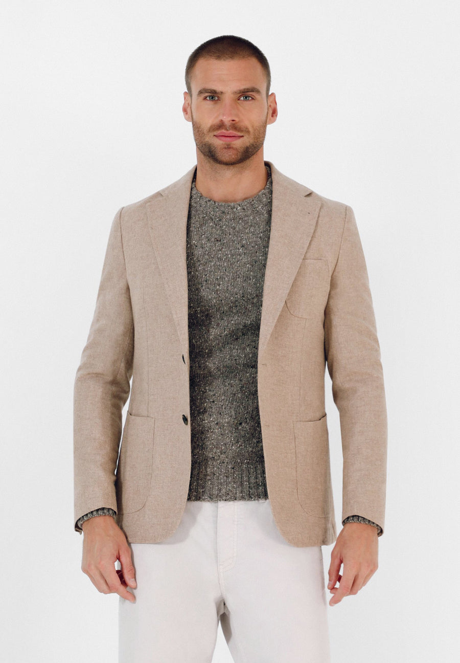 CASUAL WOOL BLAZER