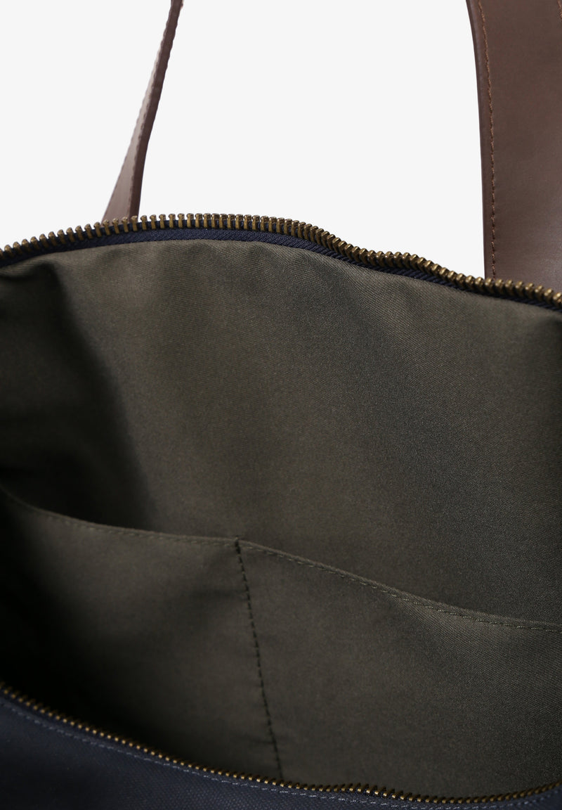LEATHER TRAVEL BAG WITH HANDLES