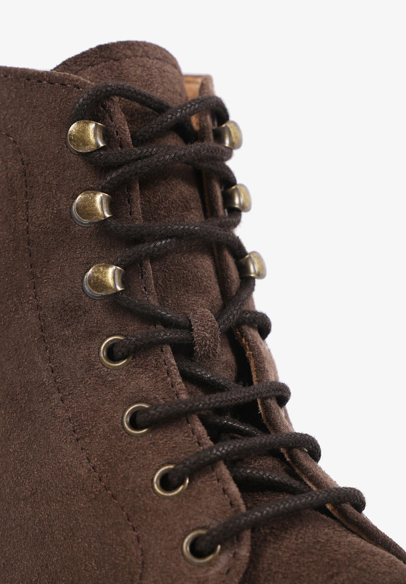 HIGH TOP LACE-UP BOOTS