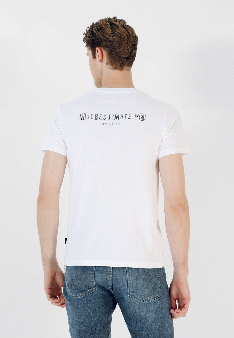 T-SHIRT WITH SLOGAN PRINT AT THE BACK