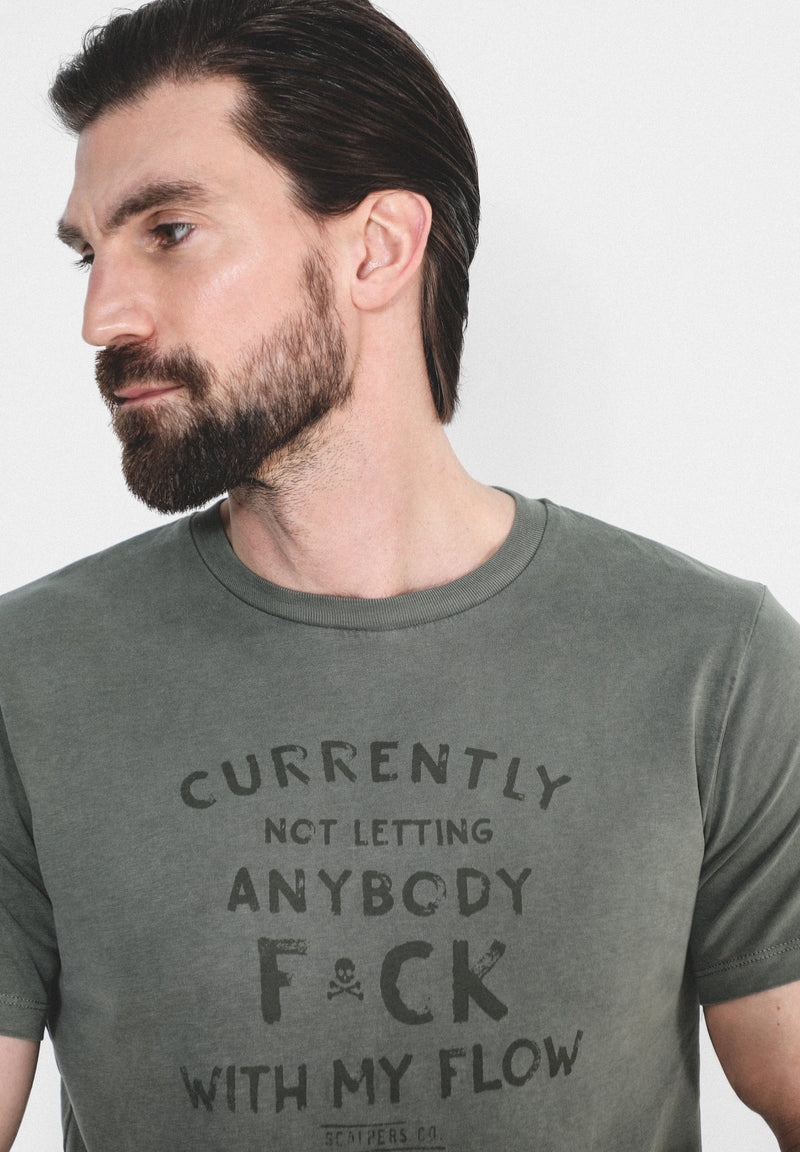 FADED TEXT T-SHIRT