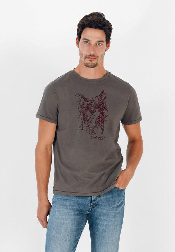 EMBROIDERED PICTURE T-SHIRT