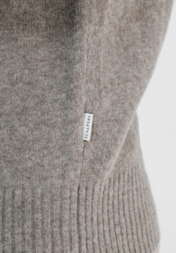 ROLL NECK SWEATER WOOL MIX