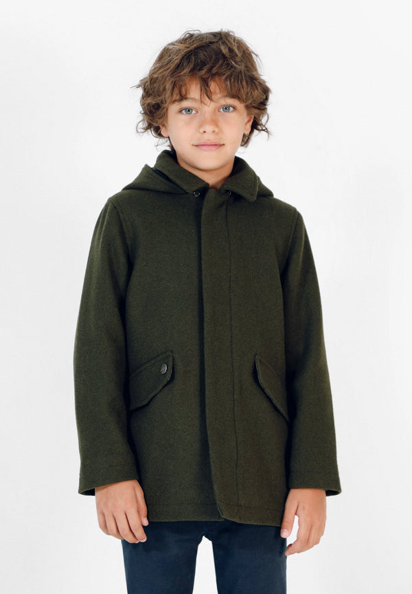 CLOTH COAT WITH HOOD