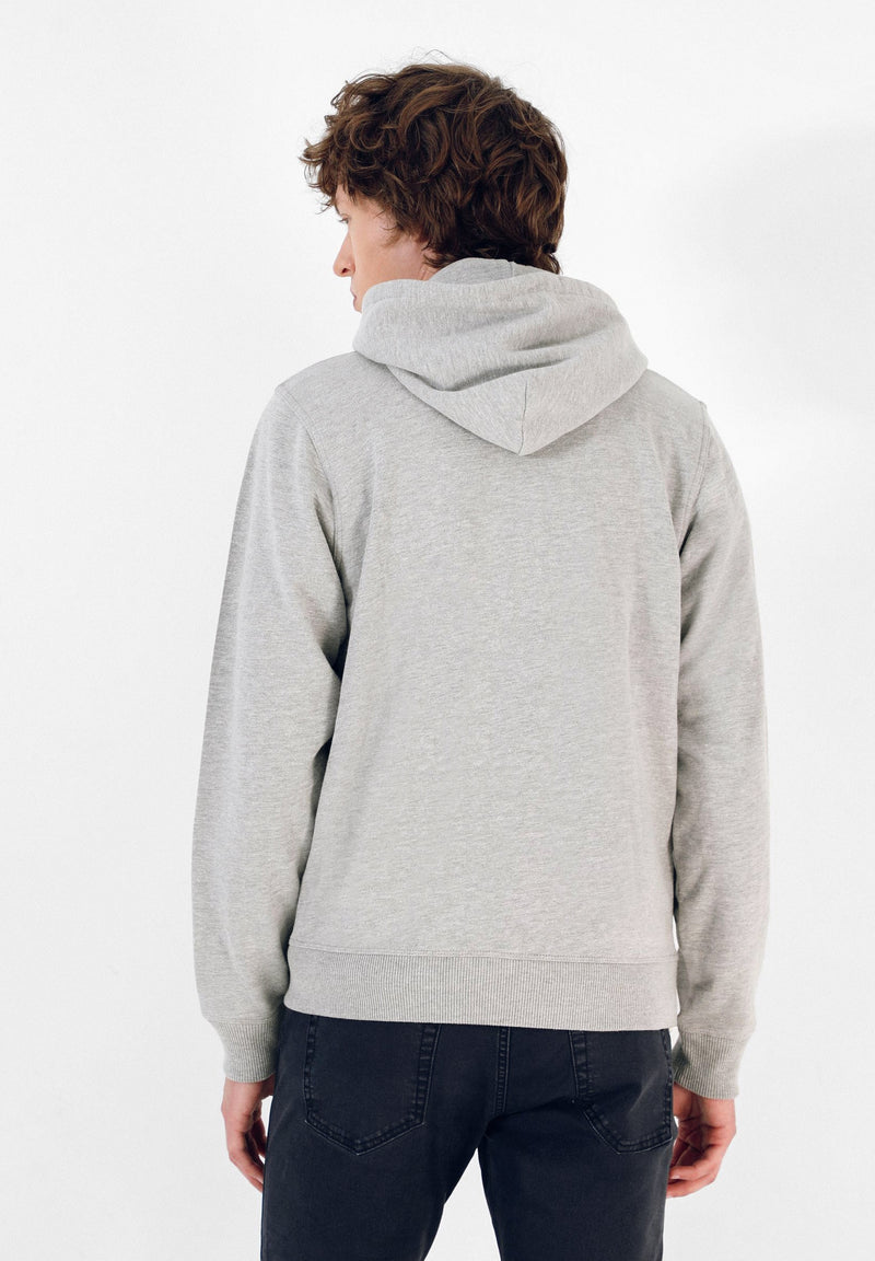 PATCH HOODIE SWEATER