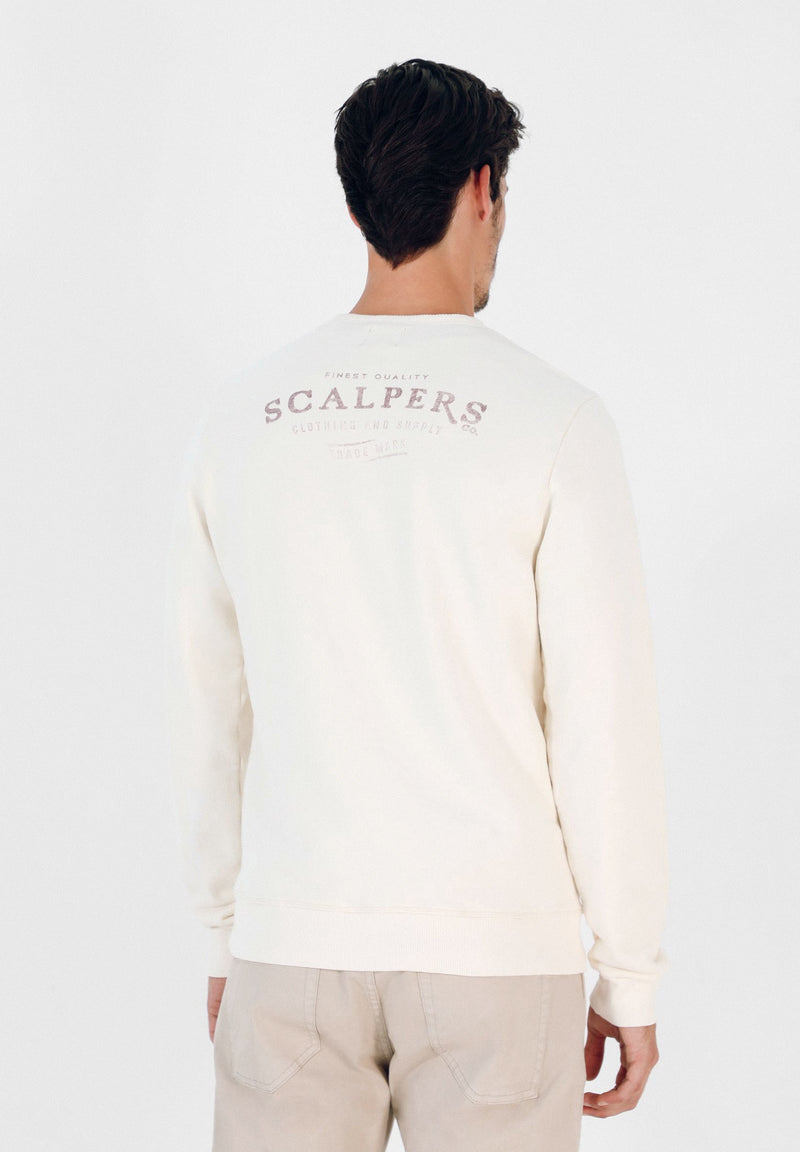 SWEATSHIRT WITH FADED SLOGAN