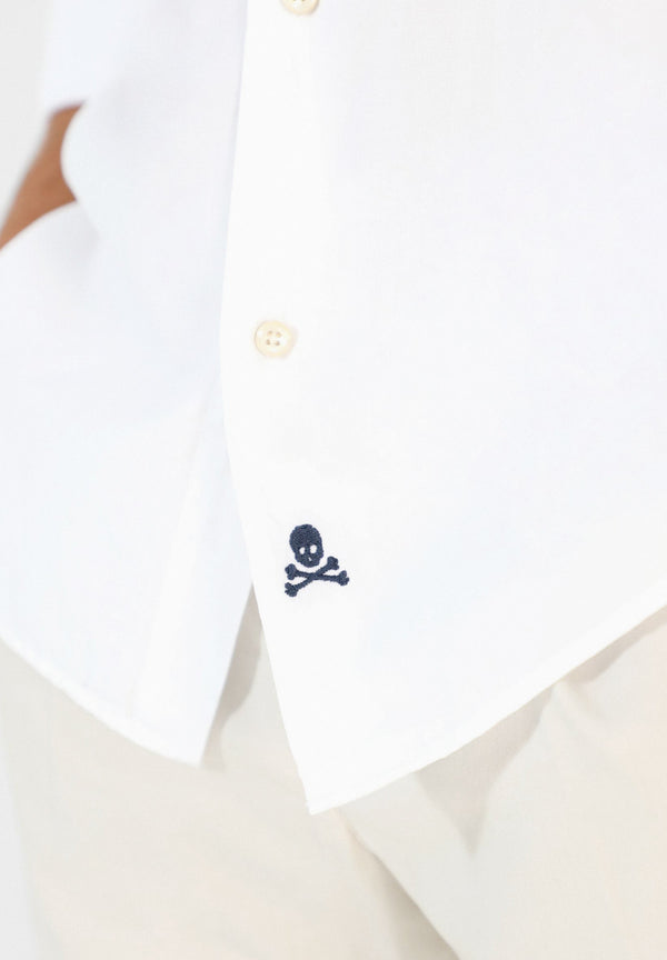 CLASSIC SHIRT WITH SKULL ON THE HEM