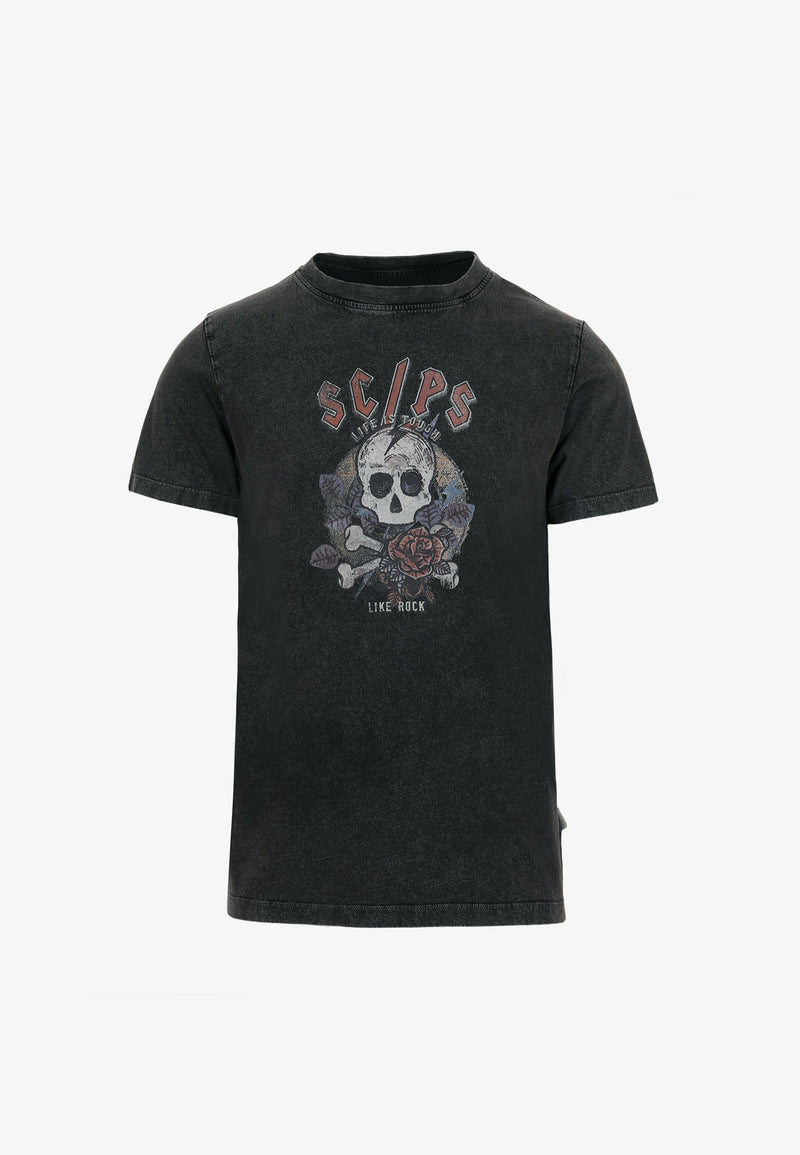 SHIRT WITH SKULL AND ROSES