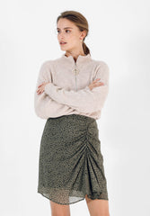 SKIRT WITH GATHERED SIDE