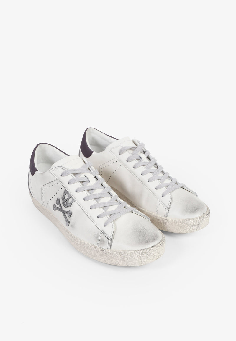 AGED LOW TOP SNEAKERS