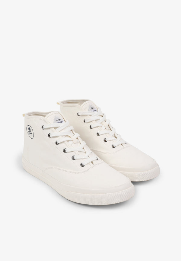 HIGH LEG CANVAS SNEAKERS