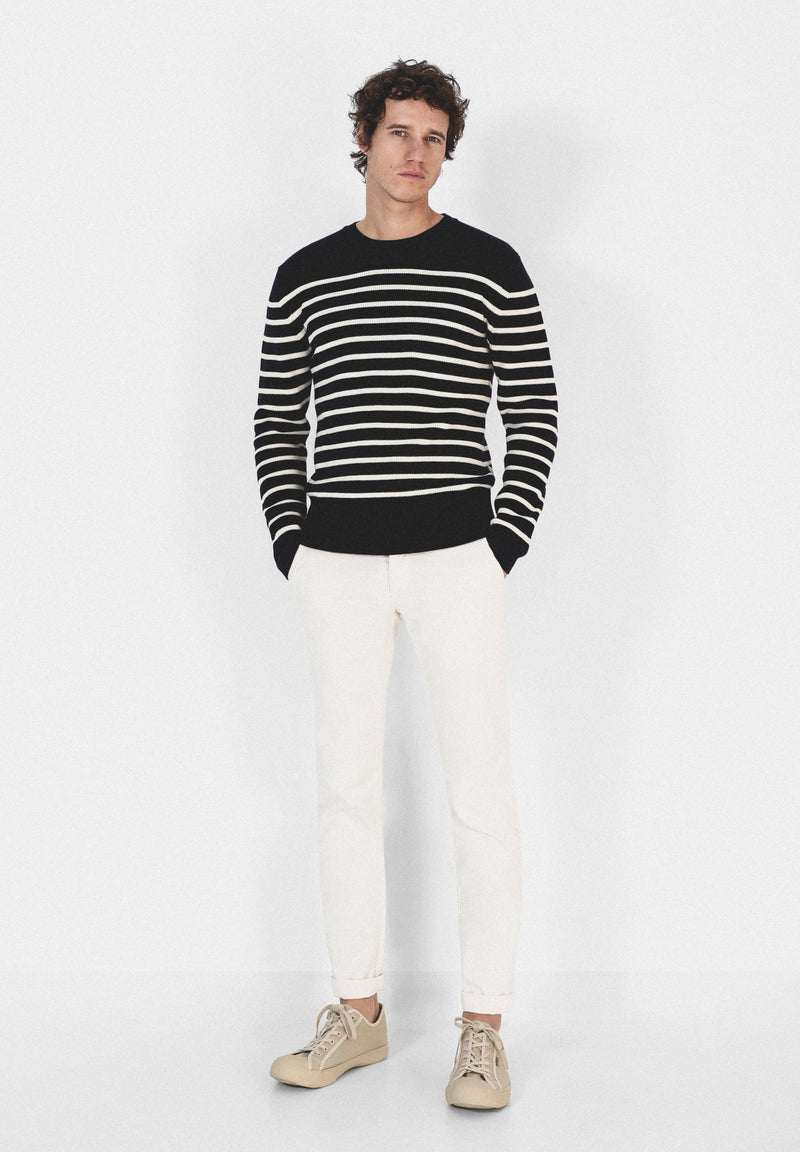 STRIPED KNITTED SWEATER