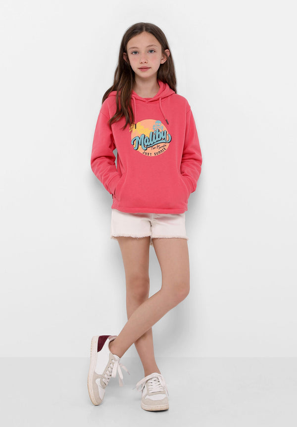 HOODED SWEATSHIRT WITH MALIBU PRINT