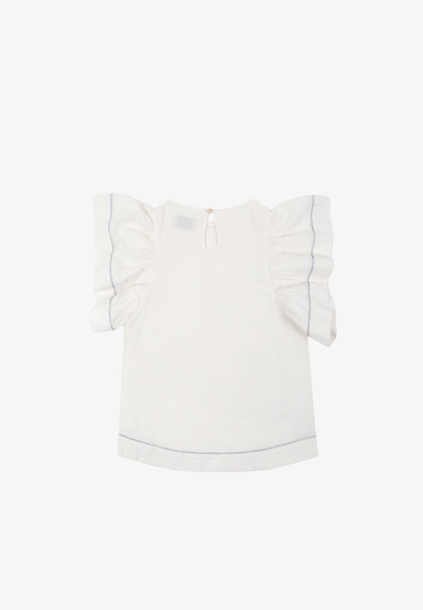 FRILL SLEEVE BLOUSE GIRLS