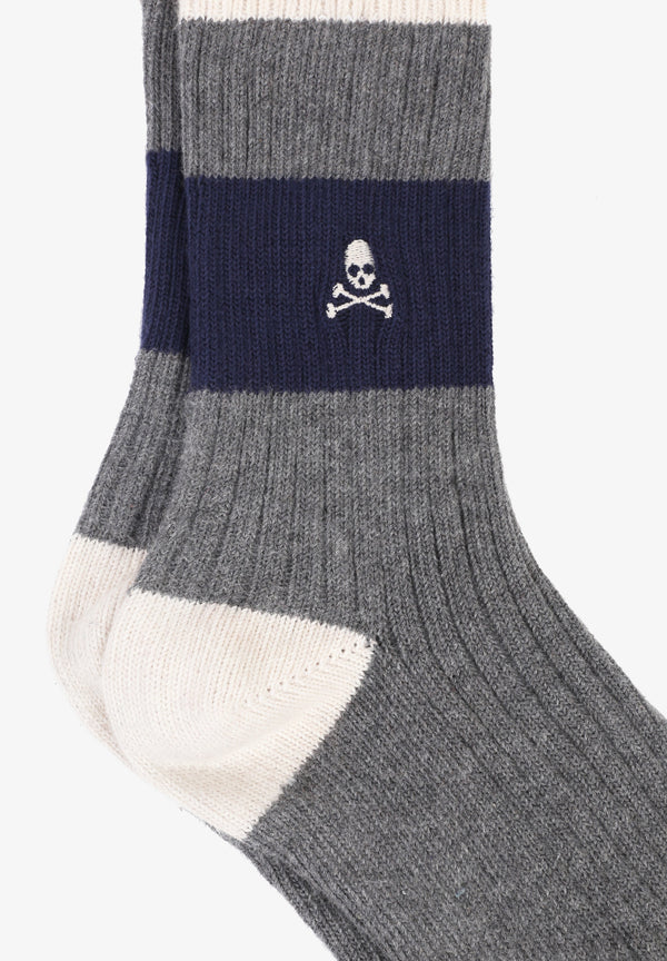 SOCKS WITH CONTRAST STRIPE