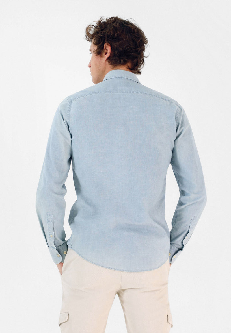 DENIM SHIRT WITH FLAP POCKETS