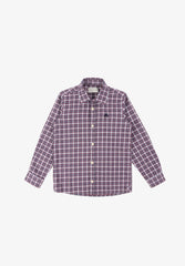 CHECKED SHIRT WITH CONTRAST SKULL