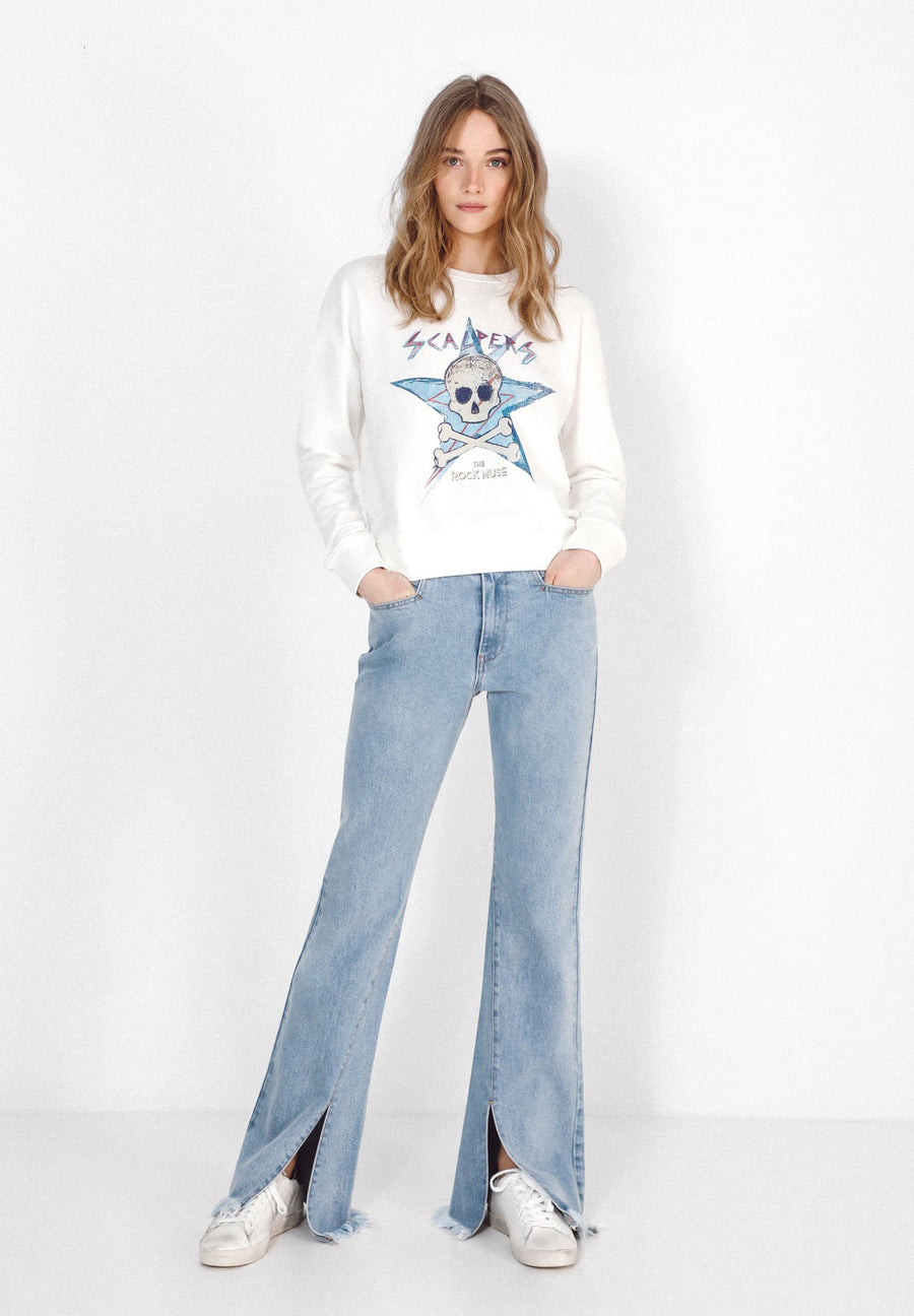 SWEATSHIRT WITH SKULL AND STAR