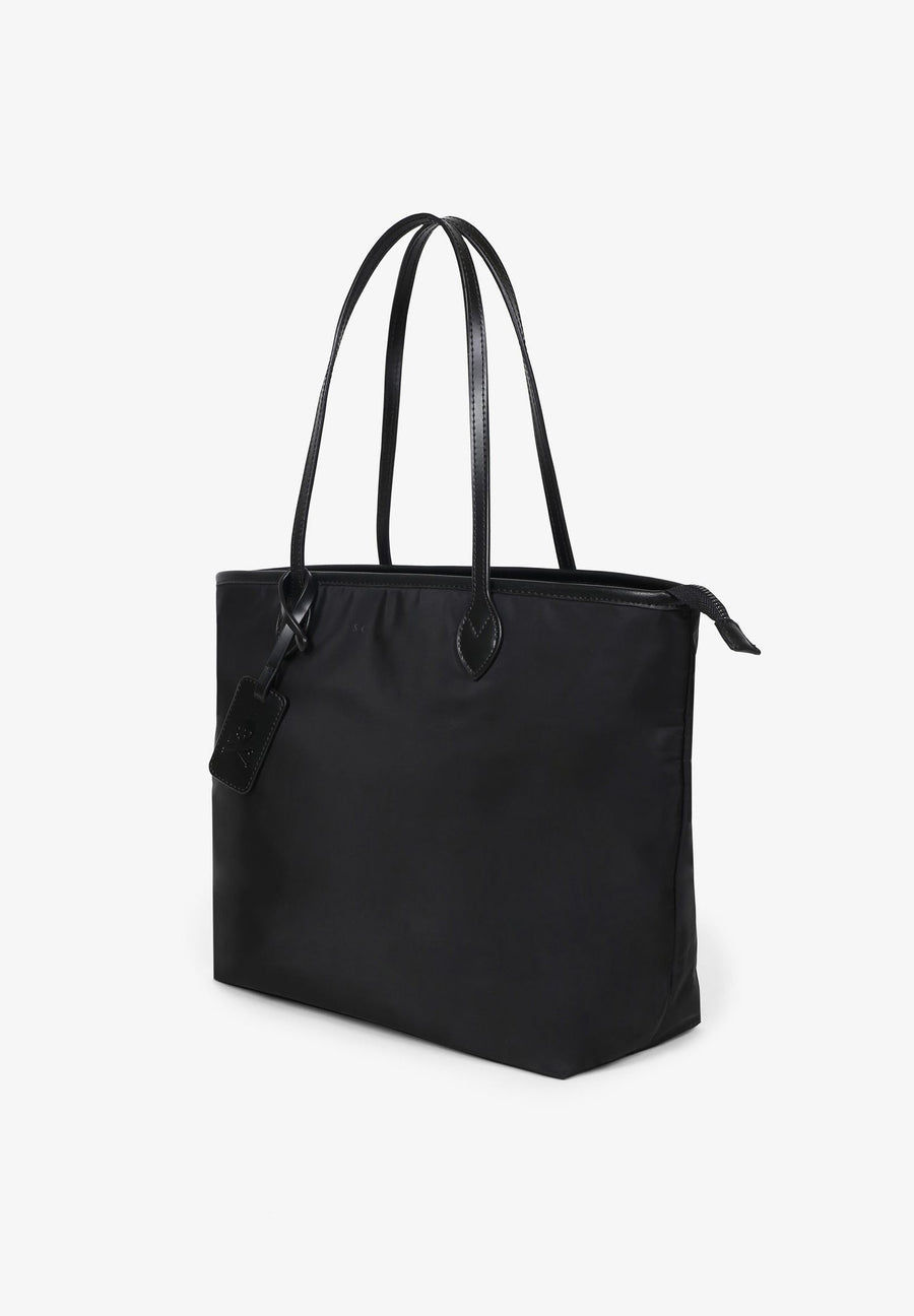 LEATHER SHOPPER BAG WITH HANDLES