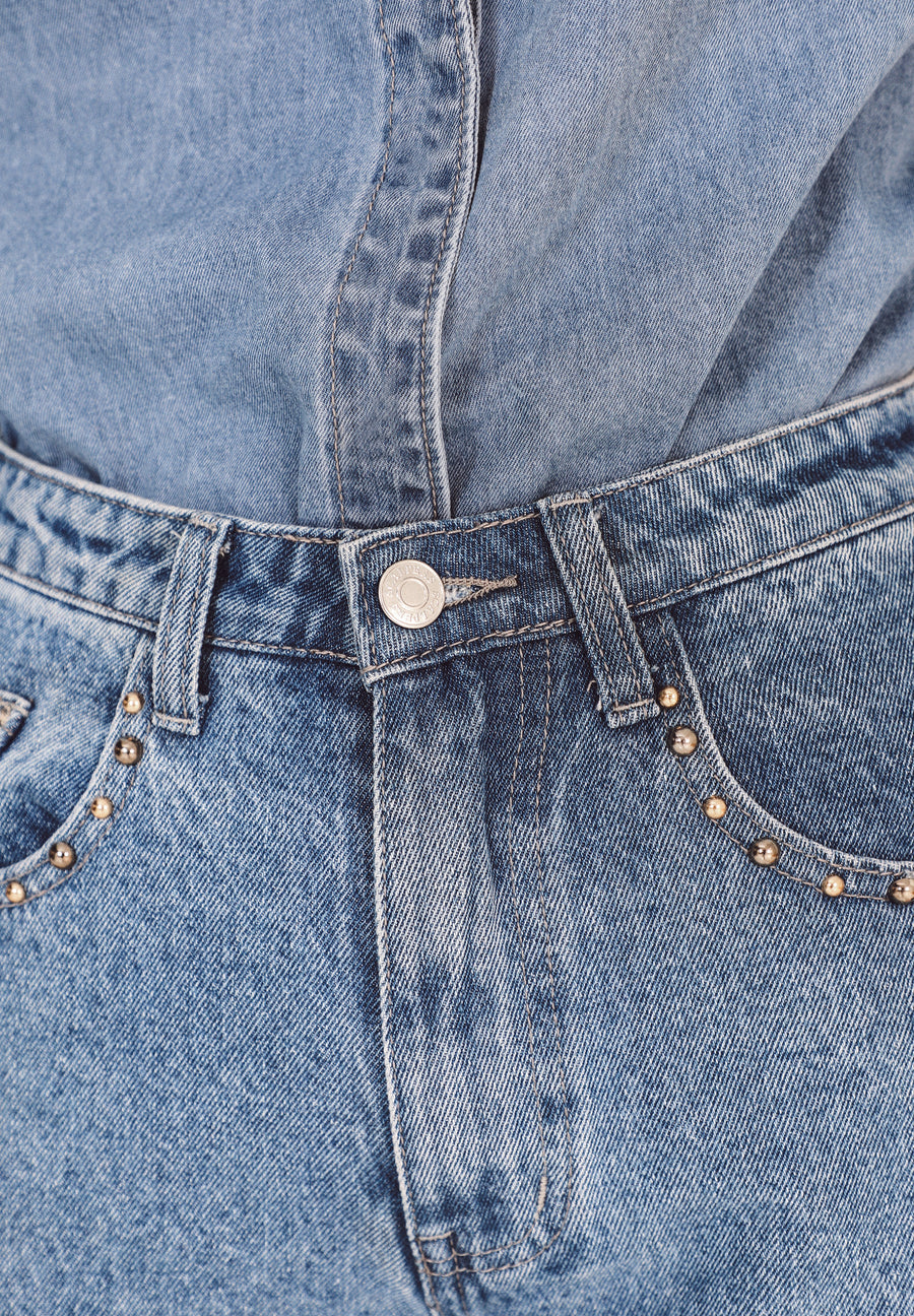 STRAIGHT JEANS WITH STUDS