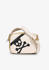 CANVAS BAG WITH MAXI SKULL