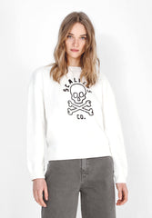SWEATSHIRT WITH SKULL LOGO