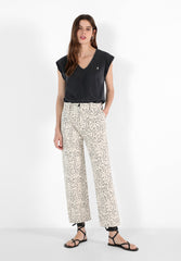 ANIMAL PRINT MINI TROUSERS