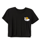 Load image into Gallery viewer, Flowy Cropped Logo Tee