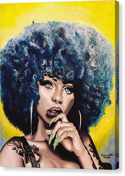 Afro Blue - Canvas Print
