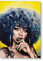 Afro Blue - Greeting Card