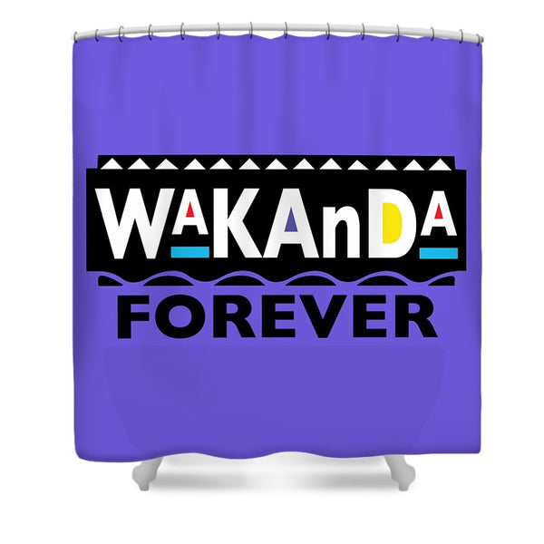 Martin_wakanda Forever_black - Shower Curtain