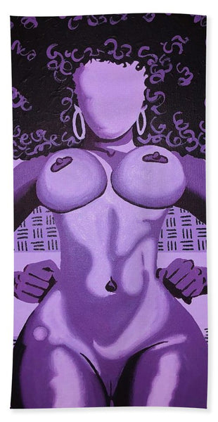 Mawu The Purple Goddess - Beach Towel