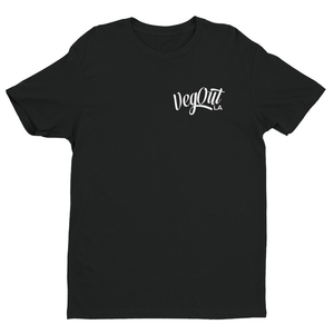 VegOut LA Unisex Chest Logo T-Shirt - Black
